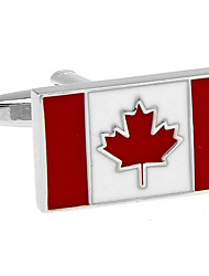 Canadian flag cufflinks French shirt cuff nail