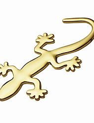 ziqiao 3d purs autocollants gecko métallique autocollant personnalité décoration de voiture