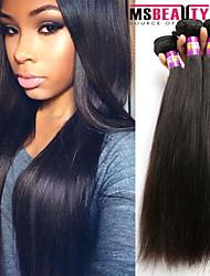 """3 unidades / lote 8 """"-30"""" 7a brasileiras virgens extensões de cabelo em linha reta 100% cabelo humano virgem não transformados tece"""
