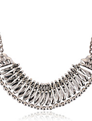 Women's Choker Necklaces Vintage Necklaces Statement Necklaces Silver Plated Alloy Statement Jewelry Fashion Jewelry Party Daily Casual