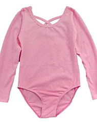 Ballet Leotards Children's Training Cotton Criss-Cross 1 Piece Black / Fuchsia / Pink Ballet Long Sleeve Leotard