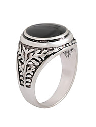 Men's Retro Ethnic style Carved Alloy Jewels Ring 01