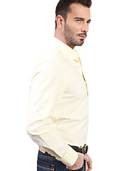 JamesEarl Men's Shirt Collar Long Sleeve Shirt & Blouse Yellow - M81XF000709