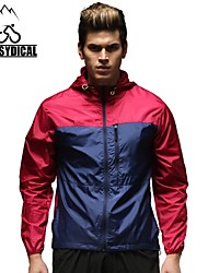 Vansydical Homens Resistente Raios Ultravioleta Fitness tops Vermelho / Preto / Azul