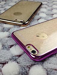 Pour Coque iPhone 6 / Coques iPhone 6 Plus Motif Coque Coque Arrière Coque Couleur Pleine Flexible TPU iPhone 6s Plus/6 Plus / iPhone 6s/6