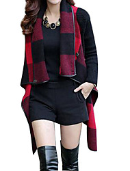 Women's Checked Tweed Trench Coat(More Colors)
