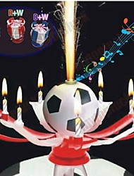 Birthday Candles Romantic Music Candle Candle Cup Football Color Automatic Blossom Candle(Ramdon Color)