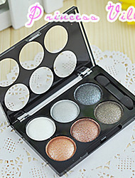 1Pcs Alfa Love Alpha Satin Shiny 6 Colors Eyeshadow Smokey-Eye Make-Up Nude Make-Up Earth Color