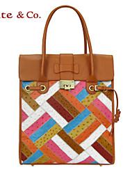 Kate & Co.® Feminino Couro de Gado Bolsa de Ombro Colorido - TH-02148