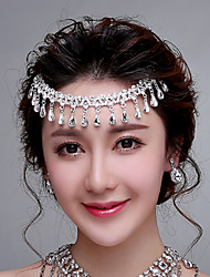 Korean Wedding /Engagement/ Special Occasion Forehead Piece with Pendant