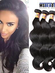 """3 PC / Los 8 """"-20"""" 8a peruanische reine Haarkörperwelle Haareinschlagfäden 100% unverarbeitetes remy Menschenhaar spinnt"""