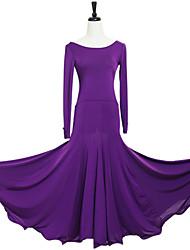 Robes(Noire Fuchsia Violet,Elasthanne Polyester,Danse moderne)Danse moderne- pourFemme Au drapée Spectacle Danse de Salon