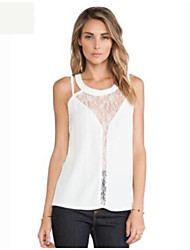 Women's Solid White Vest , Halter Sleeveless