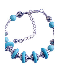 VINTAGE STYLE Turkey Blue Tophus Five Disc + Alloy Bracelet