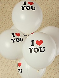 10Pcs Heart-shaped Balloon Wedding Balloon Printing Photos Marry Fashion Balloon Love Balloon