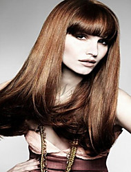 Hot Sale Brown Synthetic  Wigs  Extensions Women Lady  Long Hair