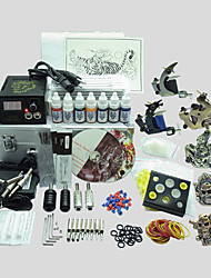 6 Guns BaseKey Tattoo Kit K603 Machine With Power Supply Grips Cups Needles(Ink not included)