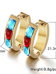 Earring Drop Earrings / Hoop Earrings Jewelry Women Titanium Steel 2pcs Silver