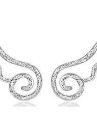 Boucle Boucles d'oreille goujon Bijoux 1set Mariage / Soirée / Quotidien Argent sterling Femme / Hommes / Couple Argent