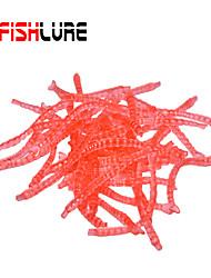 "60pcs/lot pcs Weiche Fischköder / Gummifische / Ködertasche Braun / Rot 0.02 g/<1/18 Unze,25 mm/1"" Zoll,Weicher Kunststoff / PVC"