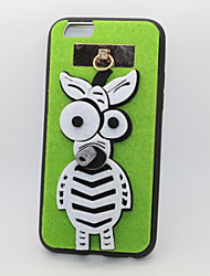 Zebra PC With A Fluffy Back Case For Iphone 6plus/6s Plus(Assorted Color)