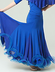 High-quality Viscose with Draped Ballroom Dance Bottoms for Women's Performance (More Colors)