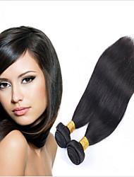 indiano virgem cabelos lisos 2 pacote trata o cabelo humano virgem indiano tece madeixas de cabelo virgem retas indiano