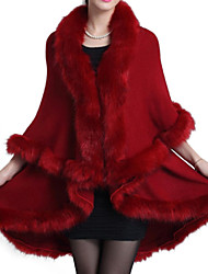 Women's Solid Faux Fur Outerwear