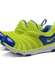 zapatillas Nike niñas al aire libre / atléticos redondas zapatillas de deporte de moda en cuero napa dedo del pie / tul verde
