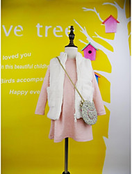 Girl's Pink / White Vest,Dresswear Cotton Winter / Fall
