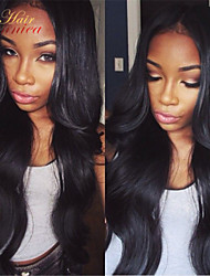 Free shipping 10-32inch 100% unprocessed brazilian human hair front lace wig & glueless full lace wig with baby hair