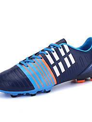 Men's Soccer Shoes Leatherette Blue / Green / White