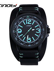 SINOBI® Brand Men's Sports Watch Black Silicone Waterproof Male Quartz Watches Wristwatches Reloj Wrist Watch Cool Watch Unique Watch