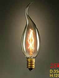 C35L tirare la fine del giallo e14 220v-240v 25w edison piccola lampadina vite