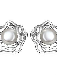 Boucles d'oreille goujon ( Argent sterling ) Mariage / Soirée / Quotidien