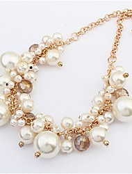 New Arrival Fashion Jewelry Sweet Crystal Pearl Necklace