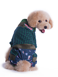Dog Clothes/Jumpsuit / Clothes/Clothing Multicolored Winter Plaid/Check Fashion
