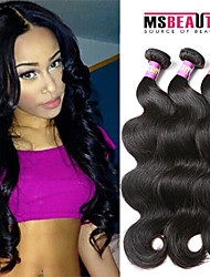 "3 Pcs /Lot 8""-30""7A Peruvian Virgin Hair Body Wave Hair extensions 100% Unprocessed Remy Human hair weaves"