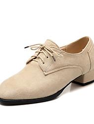 Chaussures Femme - Habillé / Décontracté - Noir / Bleu / Rouge / Beige - Gros Talon - Talons / Bout Carré - Talons - Similicuir