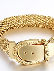 Net Wire Belt Wide Band Gold Plated 316L Stainless Steel Bracelets 1pc