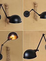 AC 100-240 40 E26/E27 Campestre Pintura Característica for Bombilla Incluida,Luz Ambiente Lámpara con brazo flexible Luz de pared