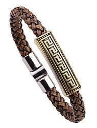 Vilam® Vintage Leather Rope Bracelet Alloy Men's Bracelet