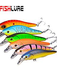 """2 pcs Harte Fischköder / kleiner Fisch Orange / Grau / Rot / Blau / Purpurrücken / Glas grün 12 g/7/16 Unze,80 mm/3-1/4"""" Zoll,Fester"""