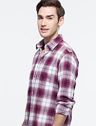 JamesEarl Herren Hemdkragen Lange Ärmel Shirt & Bluse Rot - DA202046901