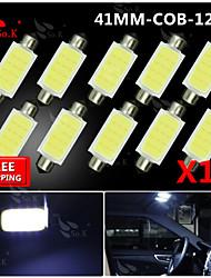 10x 42mm feston ampoule haute puissance torchis SMD carte de la lampe plafonnier 211-2 578 212-2