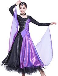 Robes ( Fuchsia / Violet / Rouge / Bleu Royal / Jaune , Elasthanne / Crêpe , Danse moderne ) Danse moderne - pour Femme