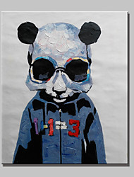 Hand-Painted Abstract Animal Panda Modern Sheep Oil Painting , Canvas One Panel Ready to Hang