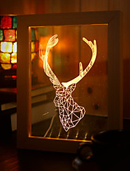 22*19*7.5CM 3 D Frame Wood Night Light Creative Gift Stereo Led Frame Light Christmas Gift Table Lamp Light Led