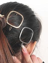 Women Minimalist Fashion Metal Geometric Box Hairpin Hair Accessories 1pc