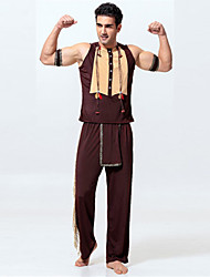 New!Men Indian Cospaly Adult Halloween Costumes For Men (Top+Pant+Gloves)for Carnival